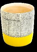 Pot Black Dot Yellow Base