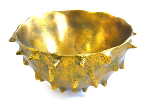 Bowl with Thorns Large Brass