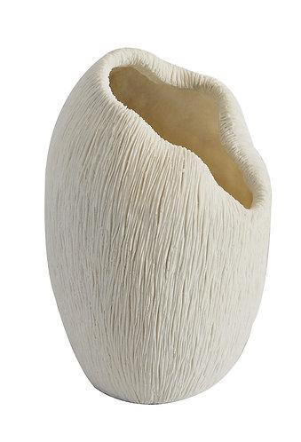 Coral Scalloped Vase