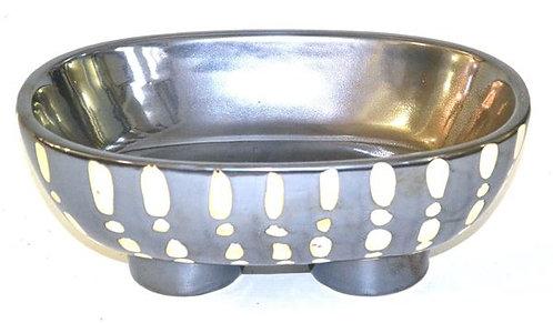 Dish Ceramic Black & Cream