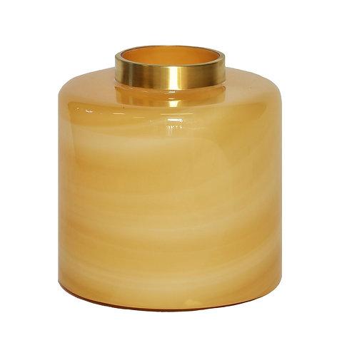 Lustre Quartz Vase Amber