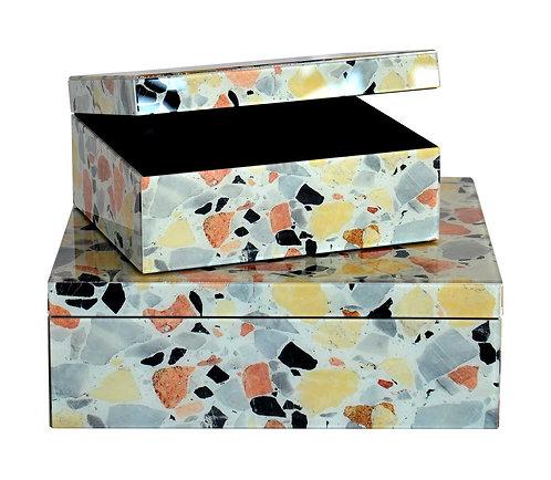 Glass Box Terrazzo White