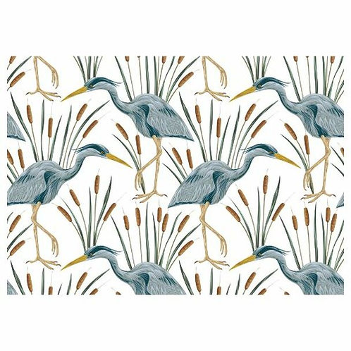 Blue Herons & Reeds Disposable Placemats