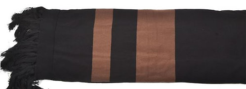 Black and Chestnut Throw