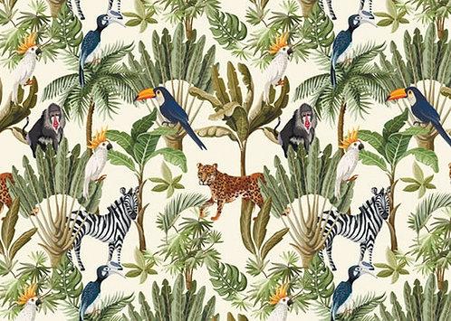 24 Disposable Paper Placemat Jungle