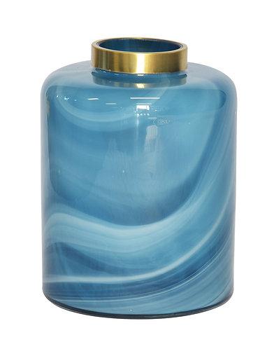 Lustre Quartz Vase Blue