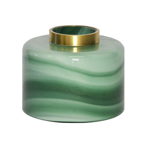 Lustre Quartz Vase Green