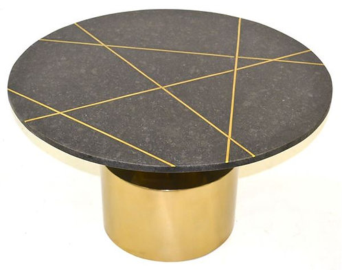 Black Marble & BrassInlay Table