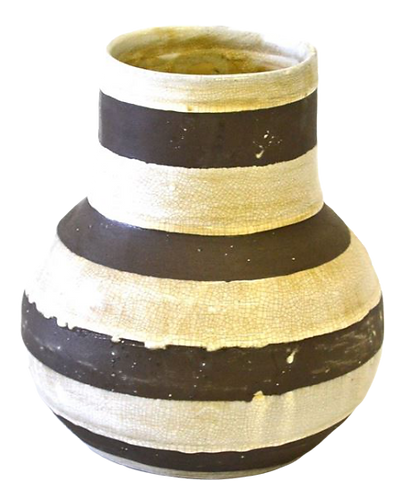 Planter Brown and Cream Stripes
