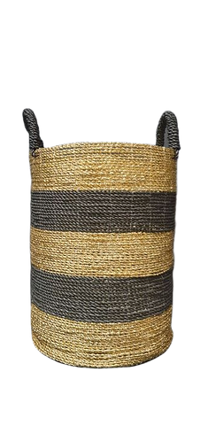 Black & Gold Stripe Basket
