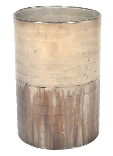 Vase Half Blue Oxidized