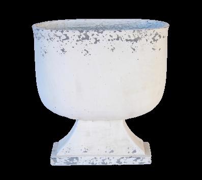 White Distressed Pot