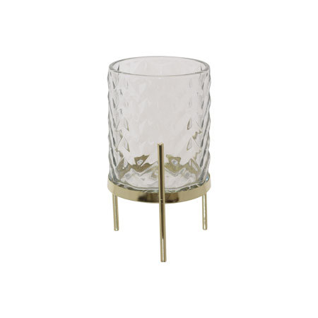 Bella Clear/Gold Candle Holder
