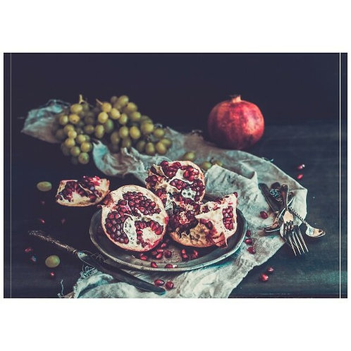 Pomegranate Still Life Disposable Placemat