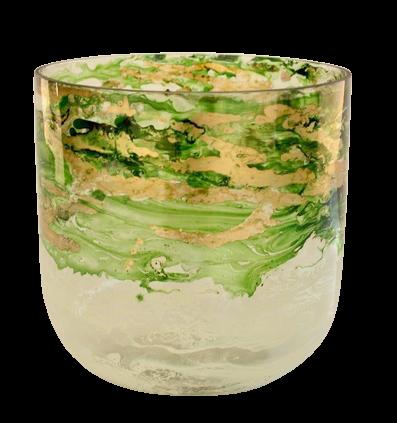 White, Gold &Green Vase