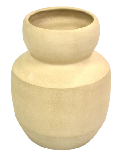 Pot Handcrafted Old Beige