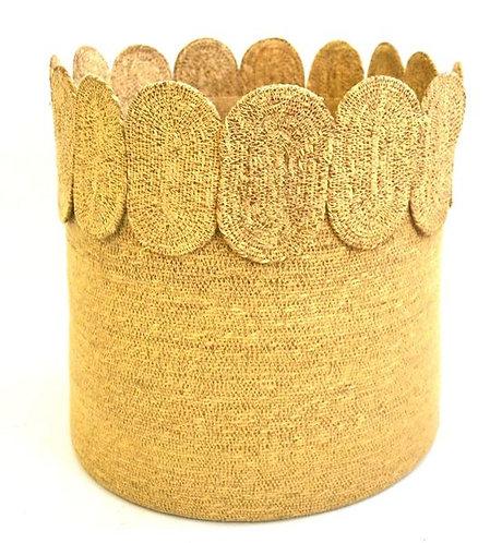 Basket Woven Detail Large Natural