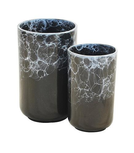 Black Marble Votive Tall