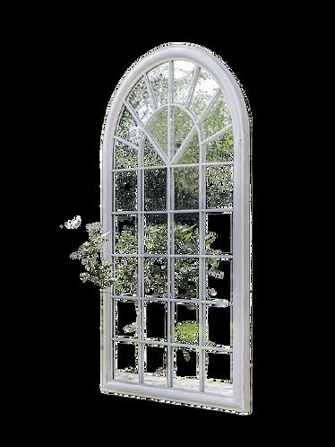 Caris Antique White Mirror