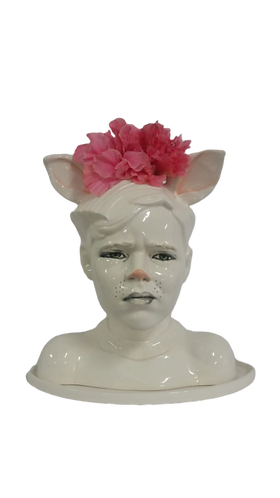 Ceramic Bust with Bunny Face