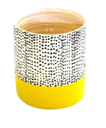Pot Black Dot Yellow Base (S)