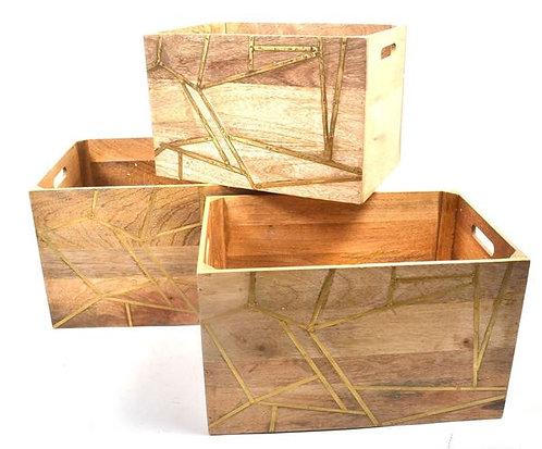 Box Wood & Brass