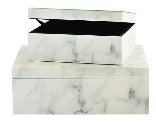 Box Marble White