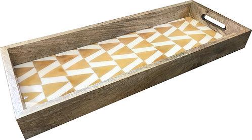 Tray Rectangular Gold Triangle