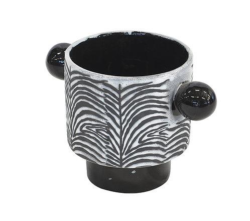 Ceramic Zebra Pot Large