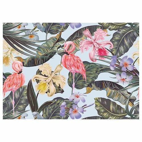 Flamingoes& Flower Disposable Placemat