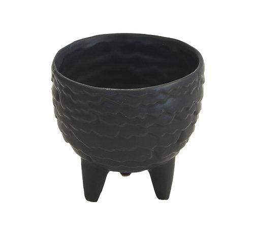 Ceramic Scale Pot Black