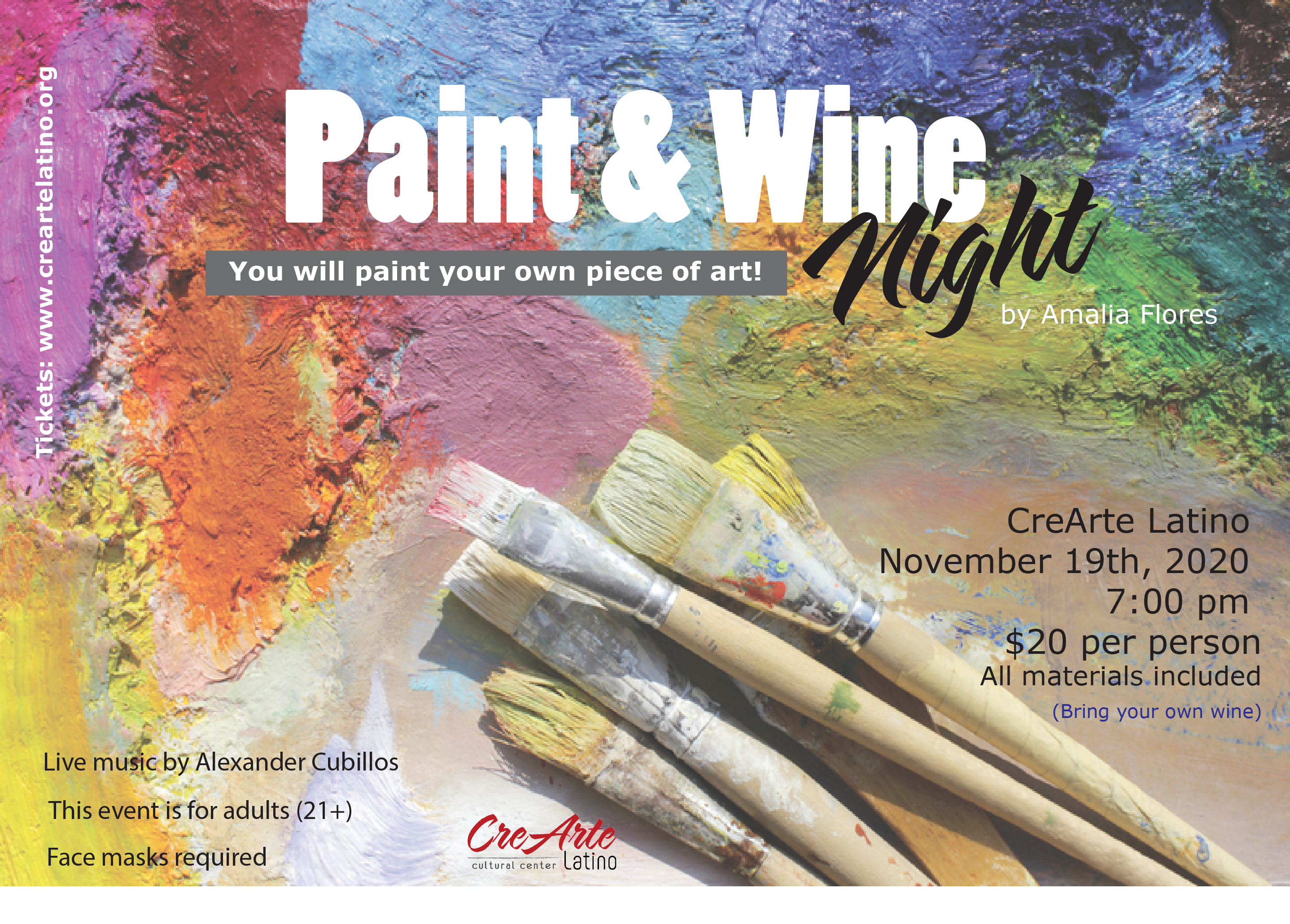 Paint and wine crearte