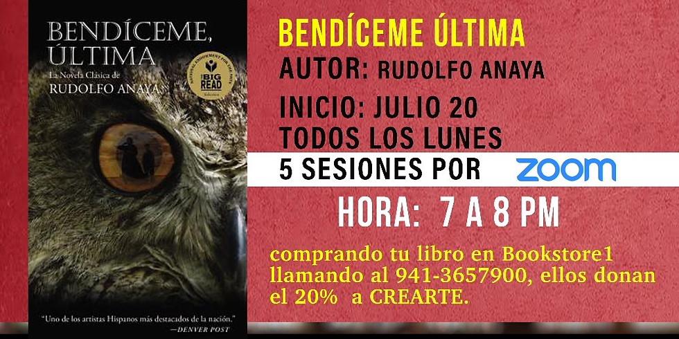 """Amigos book club """"Bendíceme, Última"""""""
