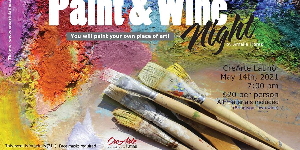 Paint & Wine Night by Amalia Flores