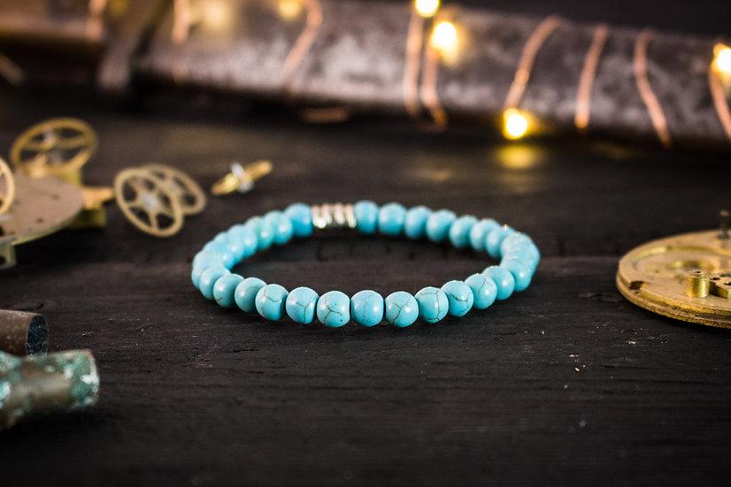 Turquoise beaded stretchy bracelet