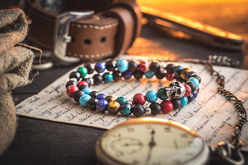 Dia de muertos bracelet with skulls