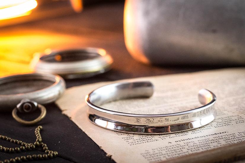 Stainless steel cuff bangle men's bracelet