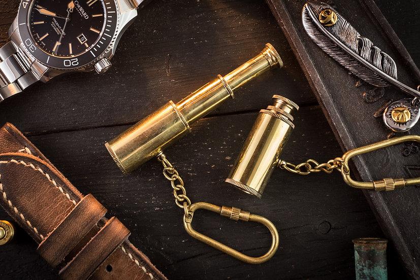 Brass Mini Nautical Telescope Keychain