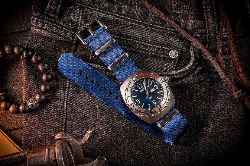 Dark Blue premium Seat Belt Nato Watch Strap