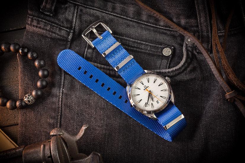 20mm Light Ocean Blue premium Seat Belt Nato Watch Strap