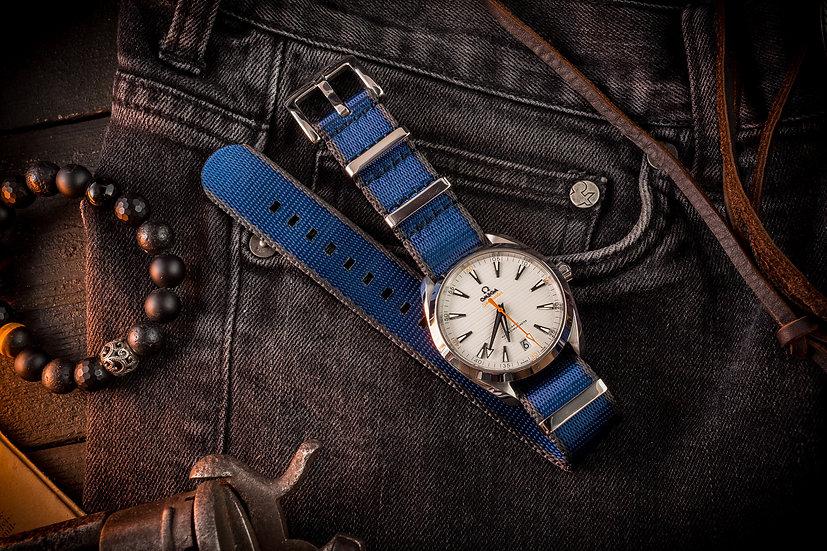 Dark Blue and Gray premium Seat Belt Nato Watch Strap