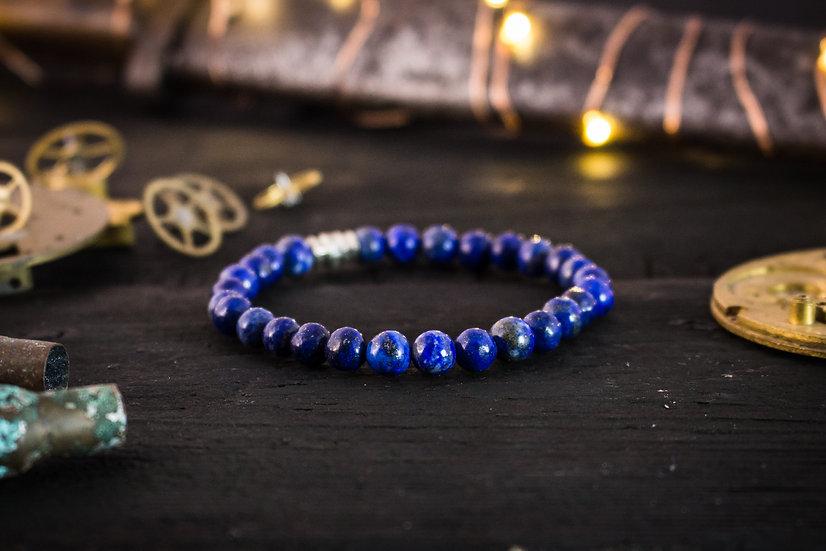 Blue Lapis Lazuli beaded stretchy bracelet