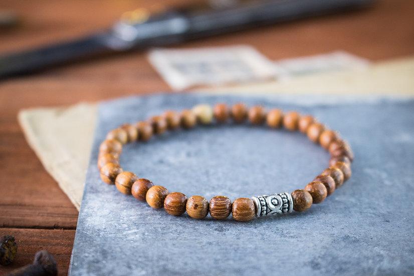 Sandalwood beaded stretchy bracelet