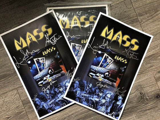 "MASS 11x 17 ""When 2 Worlds Collide"" Autographed Poster"