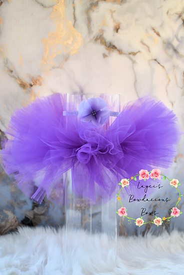 Ready to Ship Purple Newborn Tutu Set -0001