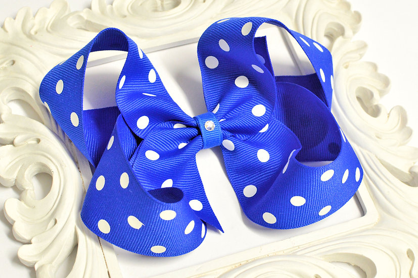 Extra Large Polka Dot Boutique Hair Bow