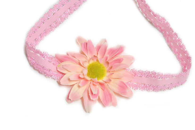 Pink Daisy Flower Headband - Ready to Ship - rts1