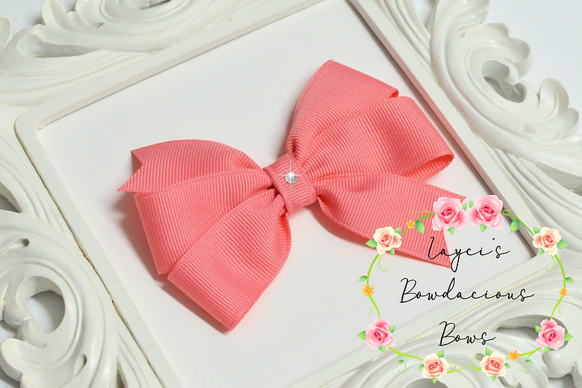 "Petite Medium Pinwheel Hair Bows - 3.75"" bows"