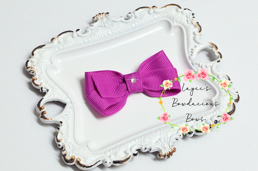 """Extra Small Classic Hair Bows - 2.5"""" bows"""