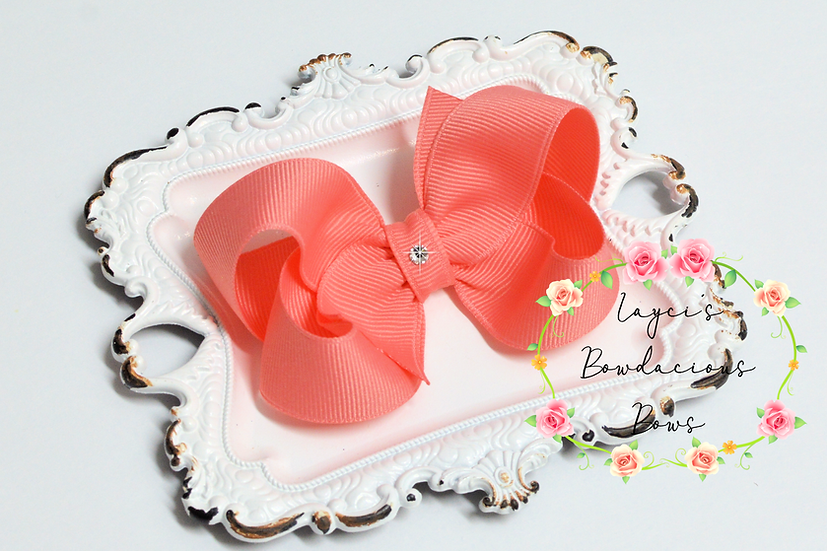 "Small Boutique Hair Bows - 3"" bows"